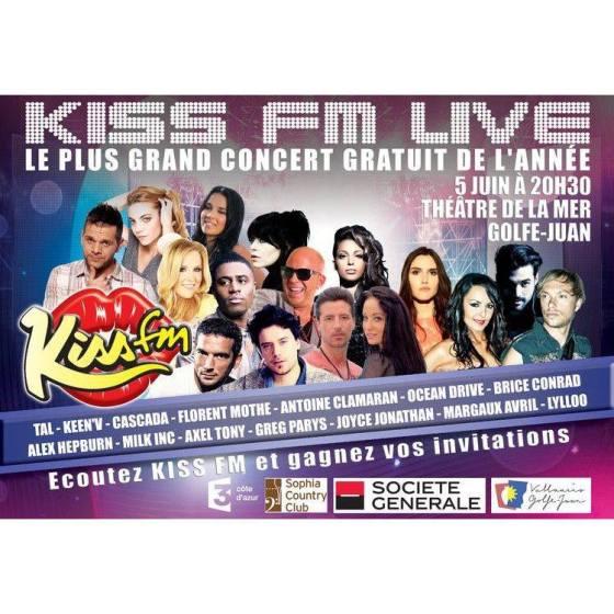 Le plus grand concert gratuit de l'année à GOLFE-JUAN le 5/06/13