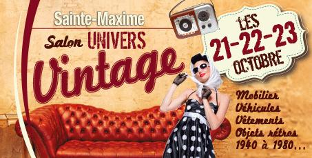 Sainte-Maxime et son Salon Univers Vintage du 21 au 23Octobre